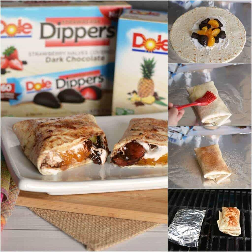 Dole Tropical Fruit Chocolate Dessert Burritos - a delicious summer dessert!