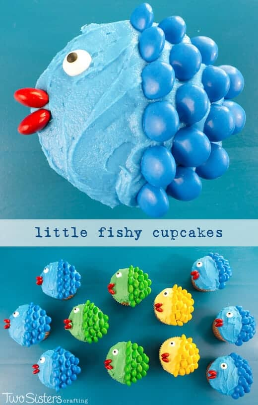 Easy Fish Cupcakes from Two Sisters Crafting