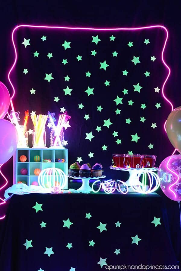 Glow in the Dark Party by A Pumpkin and a Princess