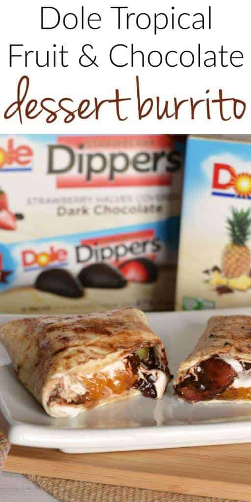Grilled Dessert Burrito - fruit and chocolate and marshmallow grilled deliciousness