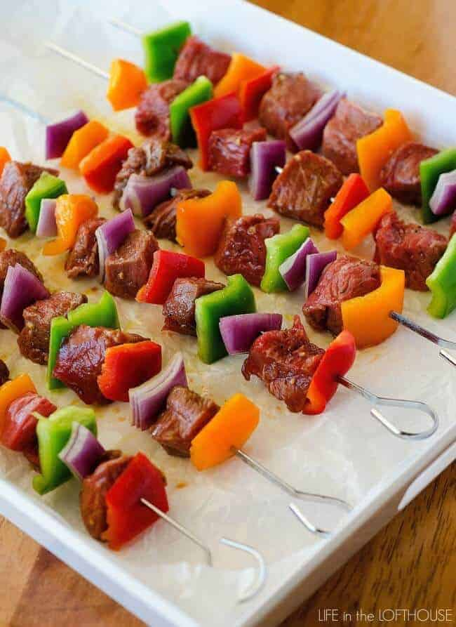 Grilled Steak Kebabs by Life in the Lofthouse