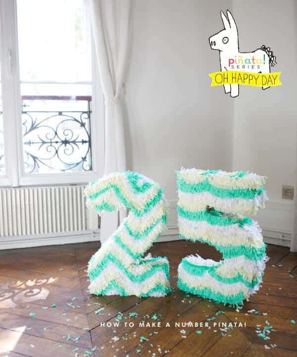 How to Make Giant Number Pinatas by Oh Happy Day
