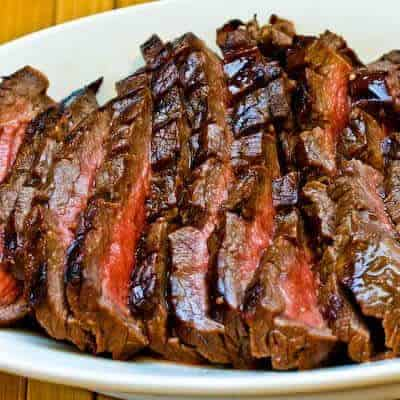 Marinated Grilled Flank Steak by Kalyn's Kitchen