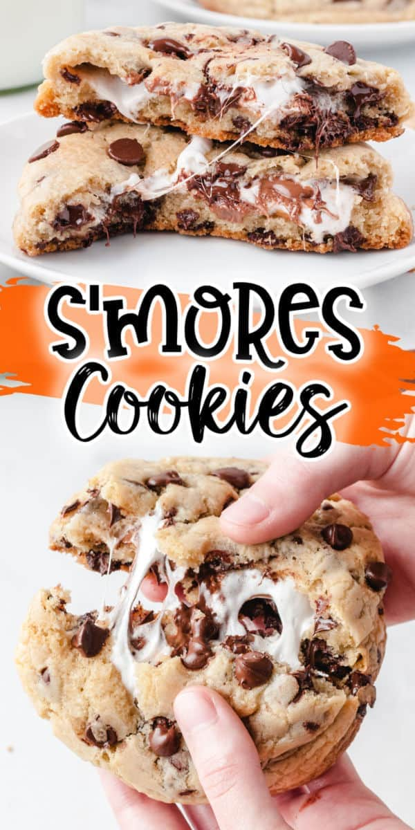 s'mores cookies pinterest image