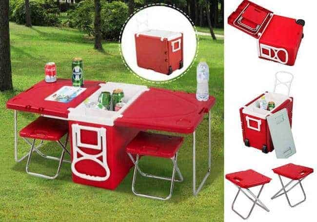 Ultimate cooler with folding table