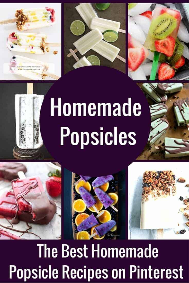The Best Homemade Popsicle Recipes on PInterest