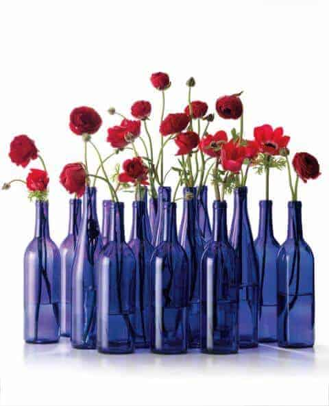 Blue Bottle Centerpiece by InStyle Magazine