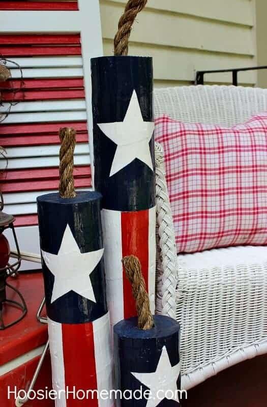DIY Wooden Firecracker by Hoosier Homemade
