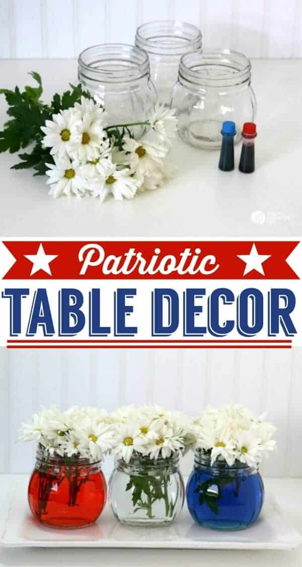 Easy Patriotic Table Decor by Today's Creative Life