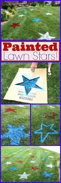 DIY Painted Lawn Stars by The Concrete Cottage