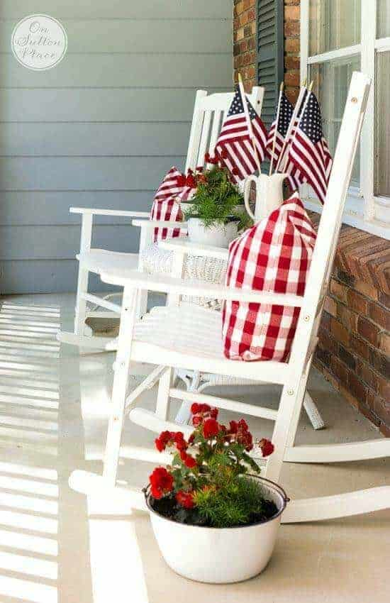 Patriotic Porch by On Sutton Place