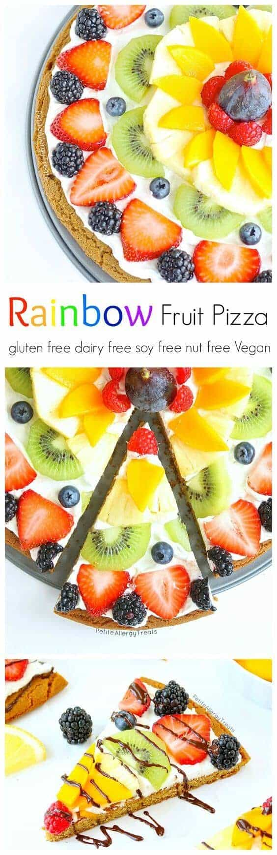 Gluten Free Vegan Fruit Pizza by Petite Allergy Treats