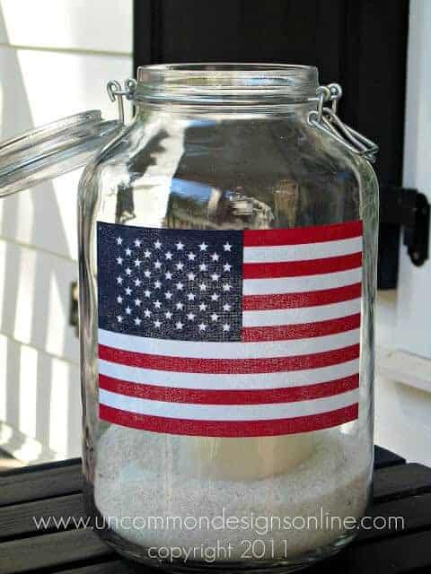 Mason Jar Flag Lanterns by Uncommon Designs