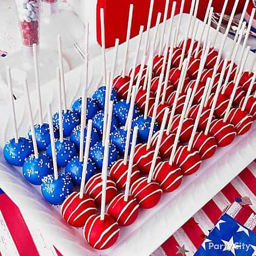 Patriotic Cake Pops by Party City