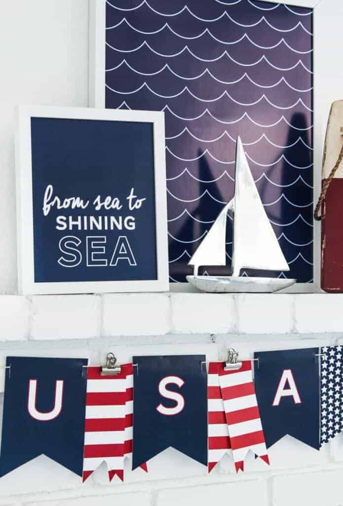 Patriotic Free Nautical Printables by Tatertots and Jello