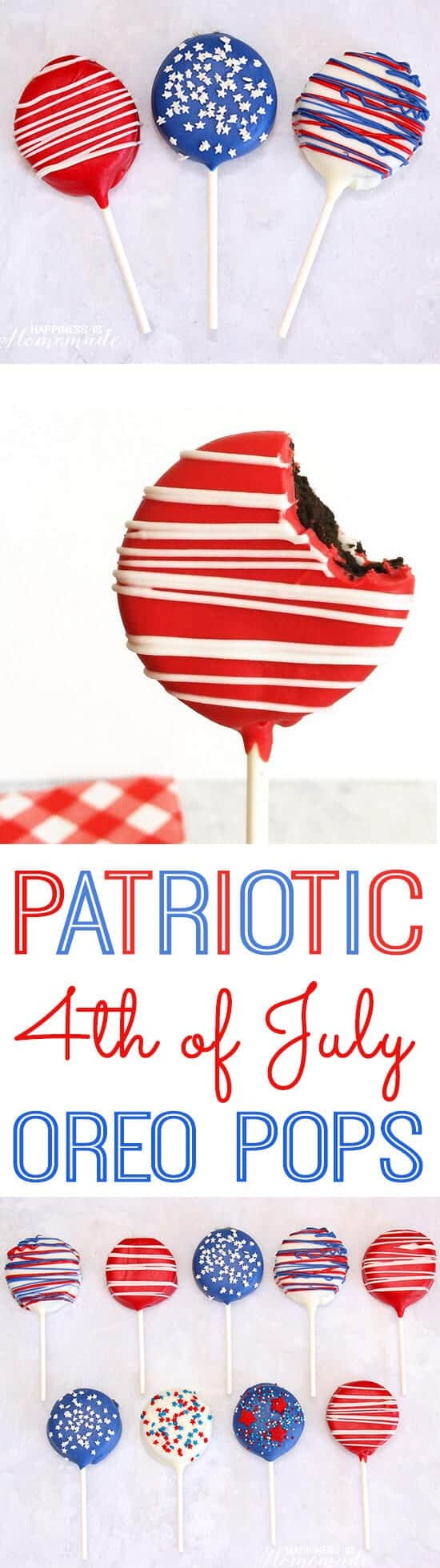 Patriotic Oreo Pops by Happiness is Homemade