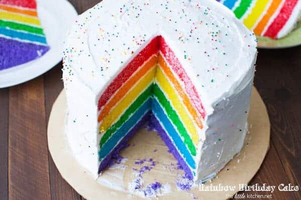 Rainbow Birthday Cake by The Little Kitchen