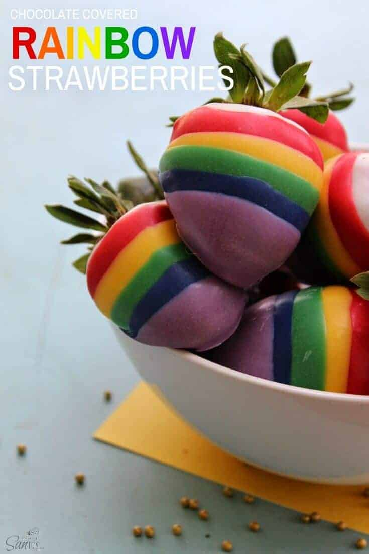 Rainbow Strawberries by Love Bakes Good Cakes
