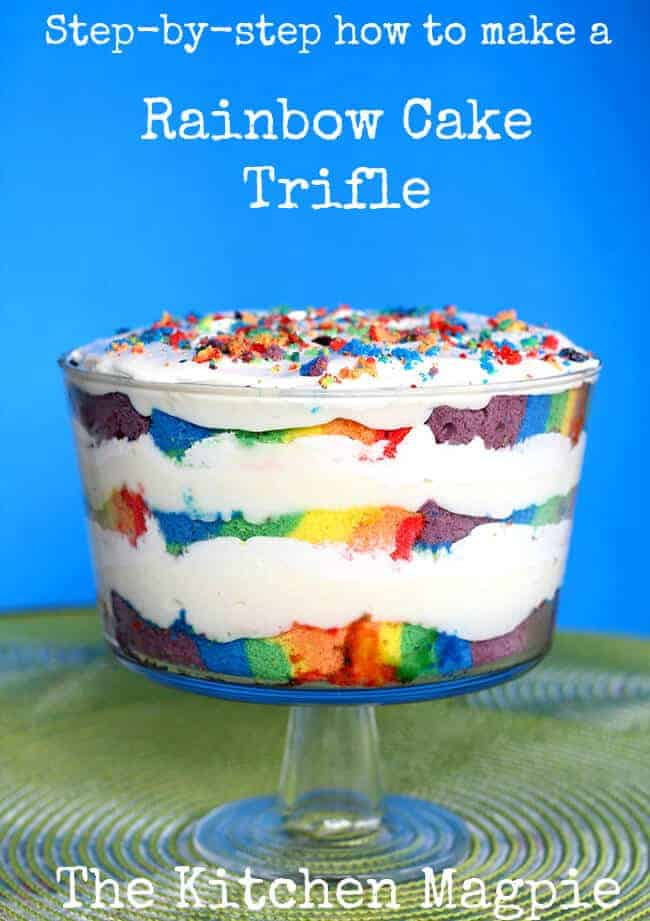 Rainbow Trifle by The Kitchen Magpie