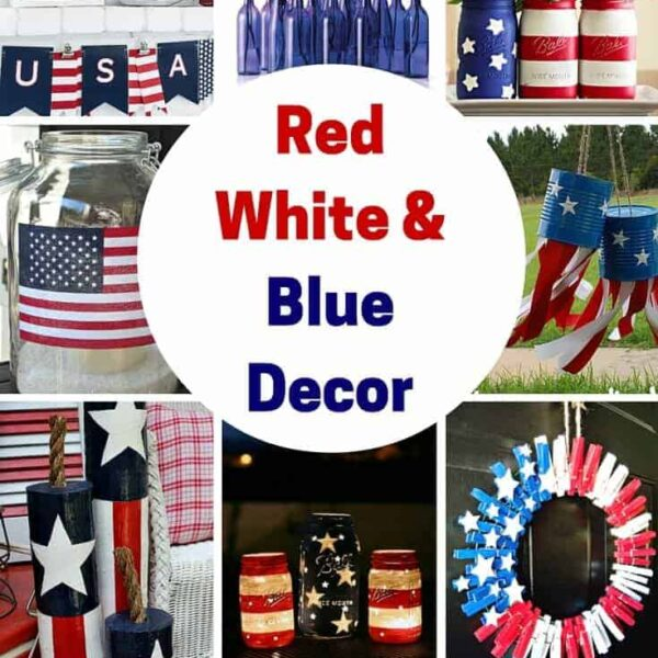 Red White & Blue Decor