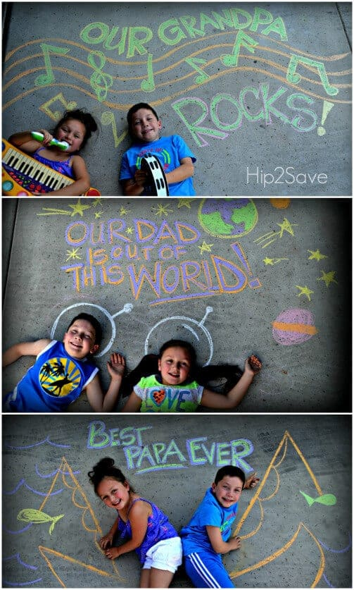 Sidewalk Chalk Photo Ideas by Hip 2 Save