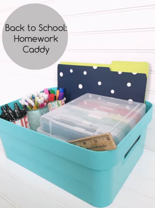 Back to School Homework Caddy by Lemsons, Lavender and Laundry