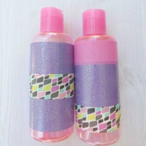 DIY Washi Tape Toiletry Bottles