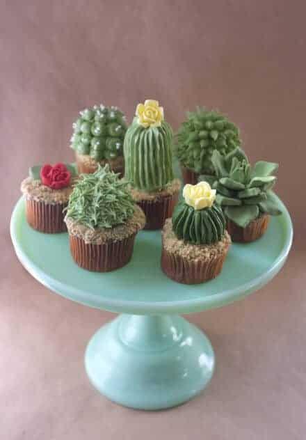 Cactus Cupcakes via Craftsy