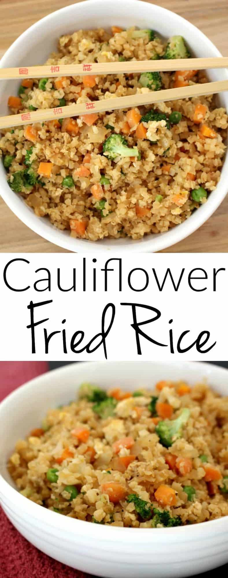 Cauliflower Fried Rice - looks and tastes exactly like fried rice! But SO much healthier for you