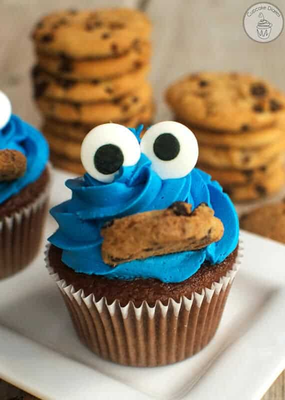 Cookie Monster Cupcakes by The Cupcake Diaries