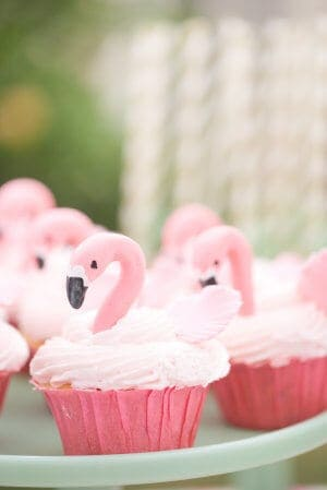 Flamingo Cupcakes by Style Me Pretty