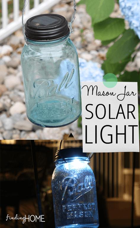 DIY Mason Jar Solar Lights | Finding Home Farms