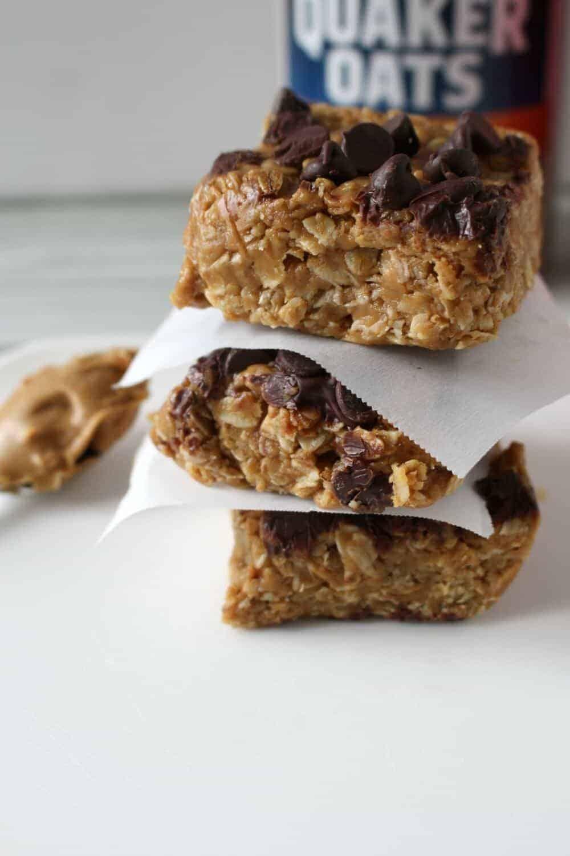 No Bake Peanut Butter Oatmeal Bars by Princess Pinky Girl