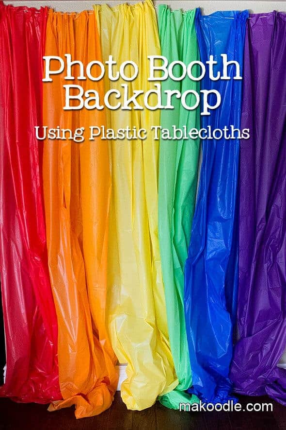 Plastic Tablecloth DIY Photo Backdrop   Makoodle and other genius party hacks and tips