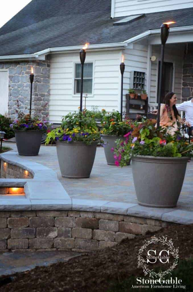 Potted Torches | Stonegable