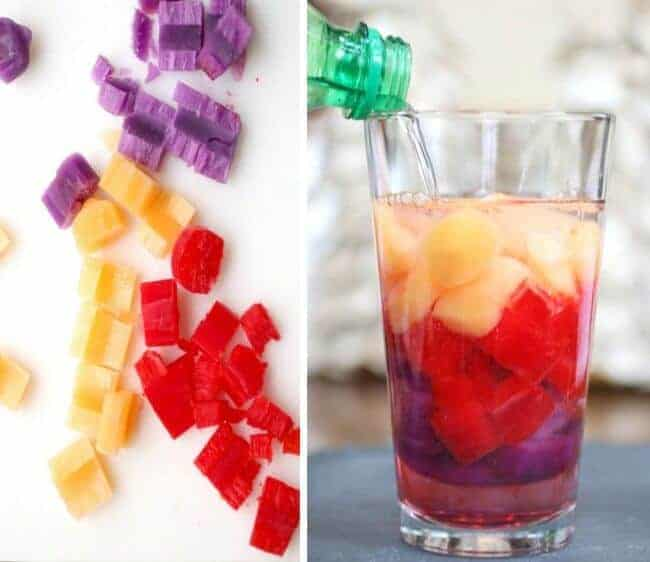 Rainbow Ice Cubes from Popsicles | Kids Activities Blog and other genius party hacks and tips