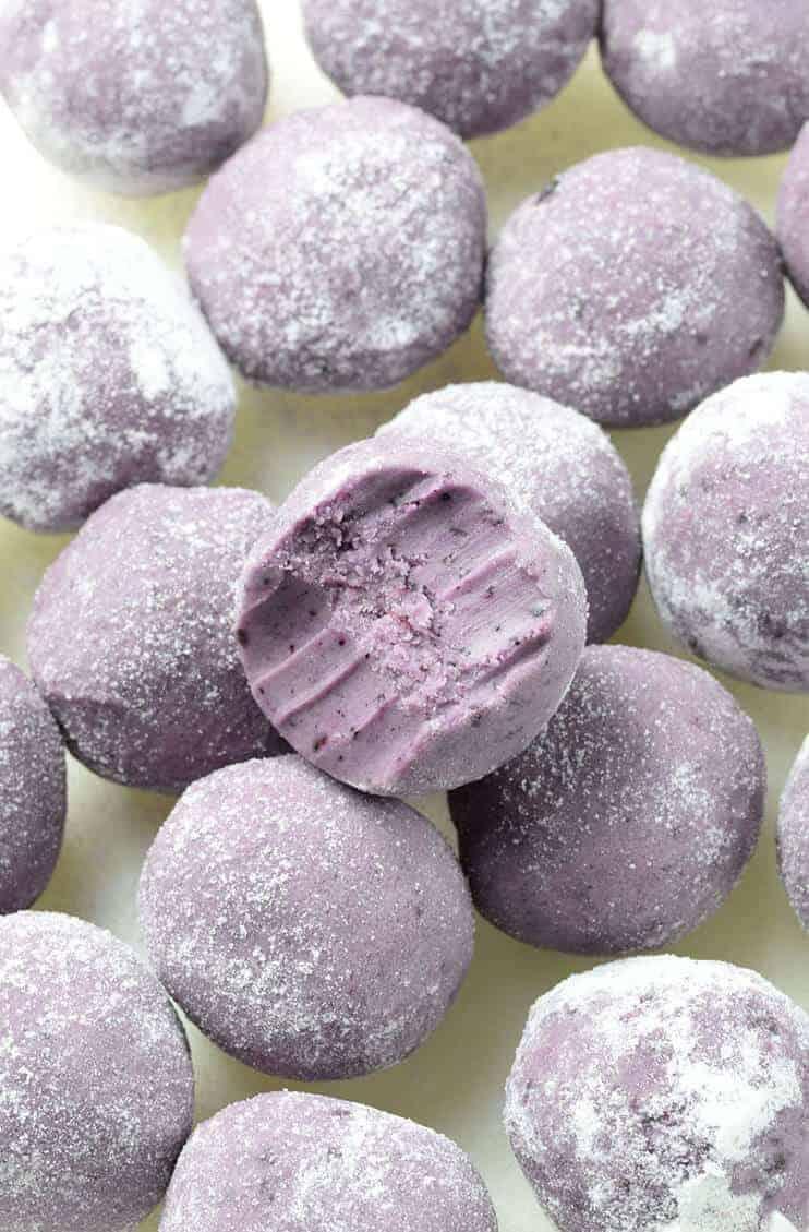 White Chocolate Blueberry Truffles by OMG Chocolate Desserts