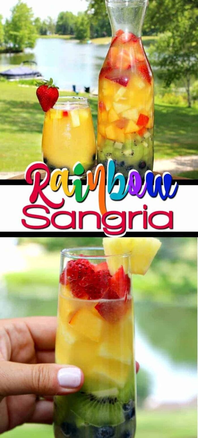 The Best Rainbow Sangria