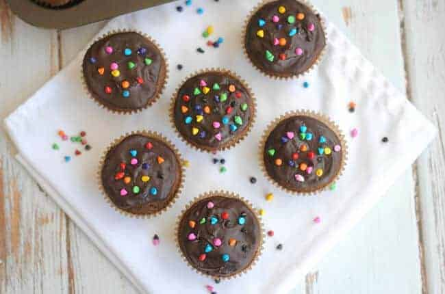 You will love these rich chocolately cosmic cupcakes!