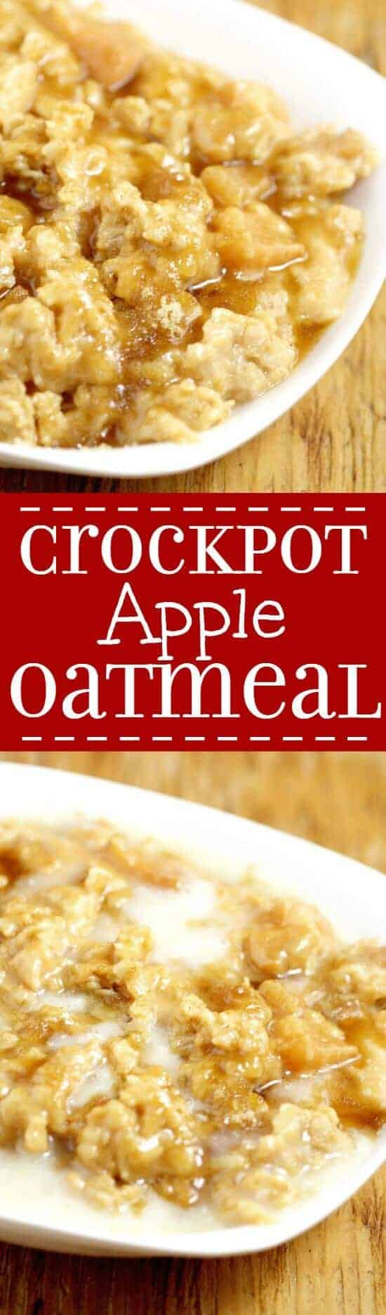 Crock Pot Apple Oatmeal | The Gracious Wife