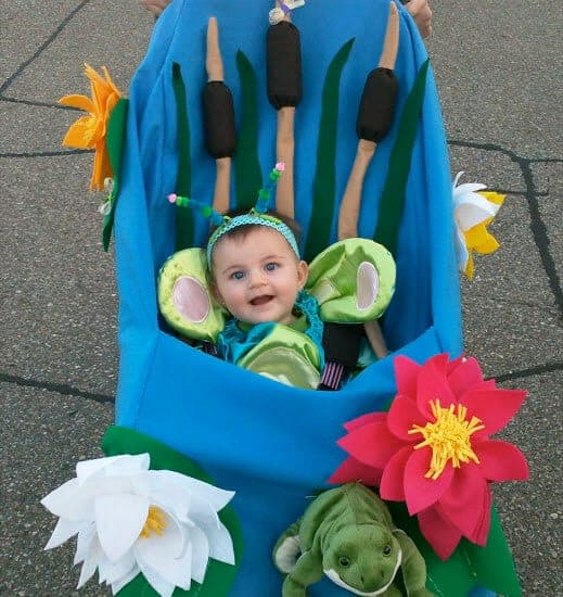 Flower Baby Stroller Halloween Costume by Chaos N Crafts
