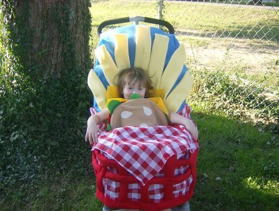 Hamburger and Fry Stroller Costume | Etsy