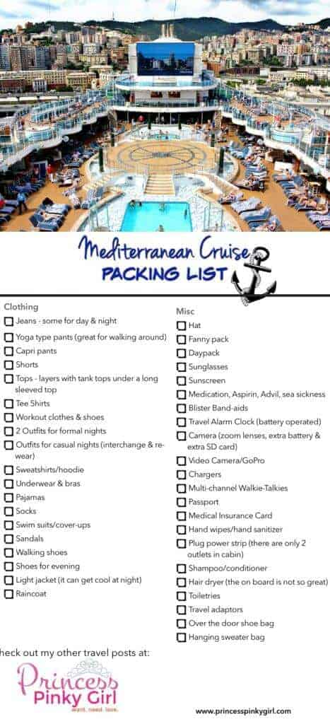 Mediterranean Cruise Packing List Amp 10 Things I Couldn T
