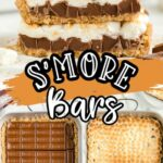 S'mores bars with steps