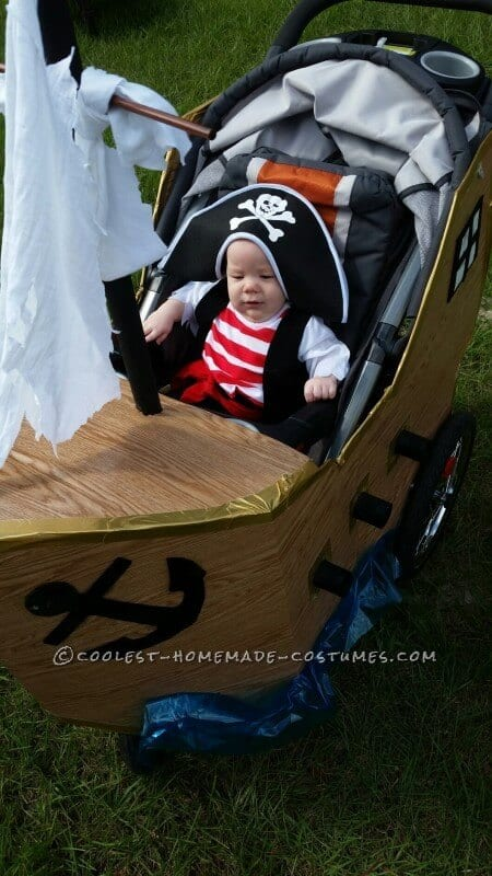 Pirate Ship Stroller Costume | Coolest Handmade Costumes