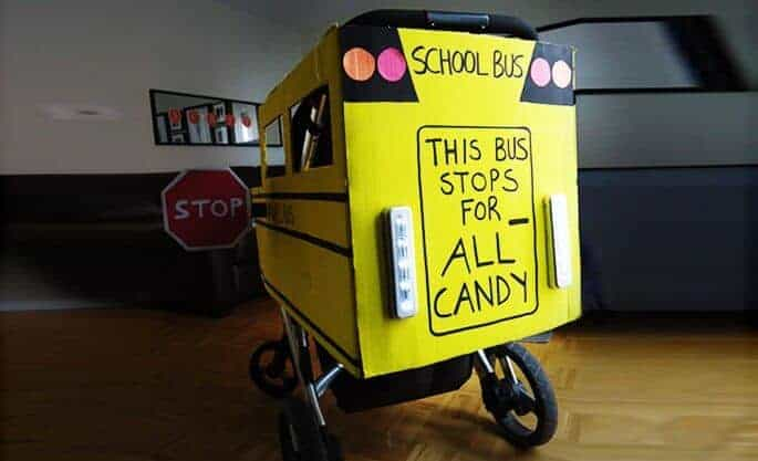 School Bus Halloween Stroller Costume | Inhabitots