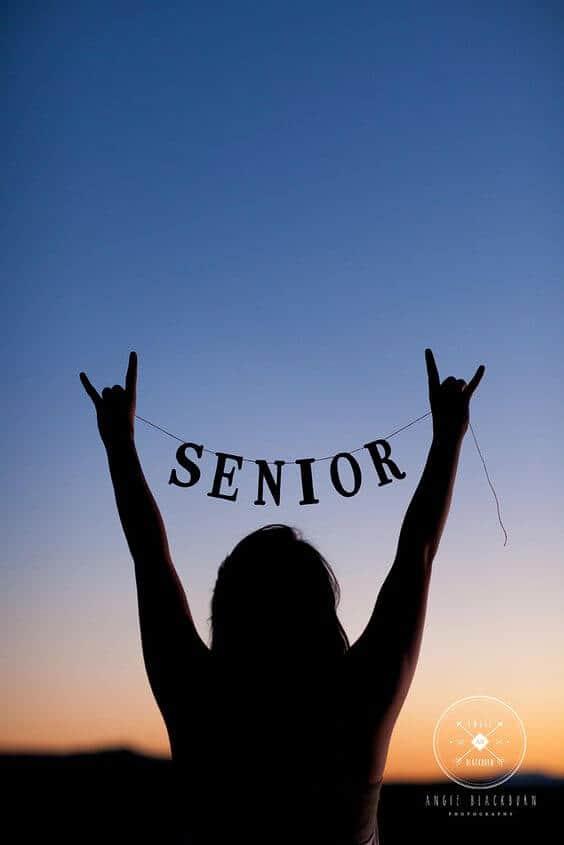 Senior Silhouette Senior Picture Idea by Angie Blackburn Photography