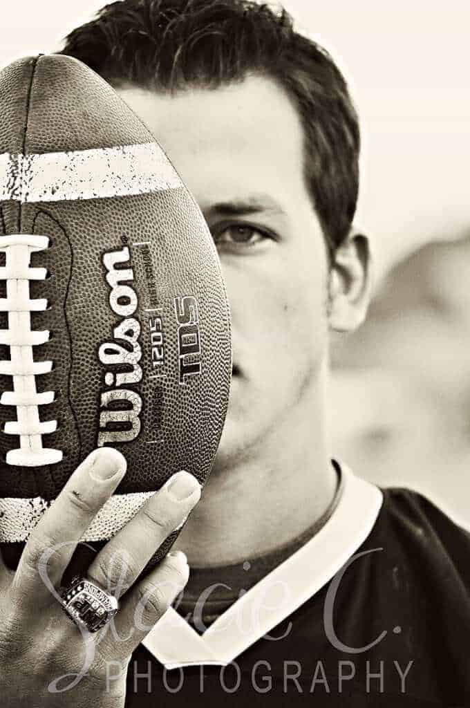 Sports Senior Photo by Stacie C. Photography
