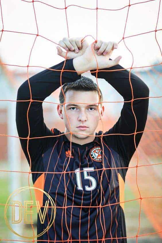 Sports Senior Picture by Dev Photography