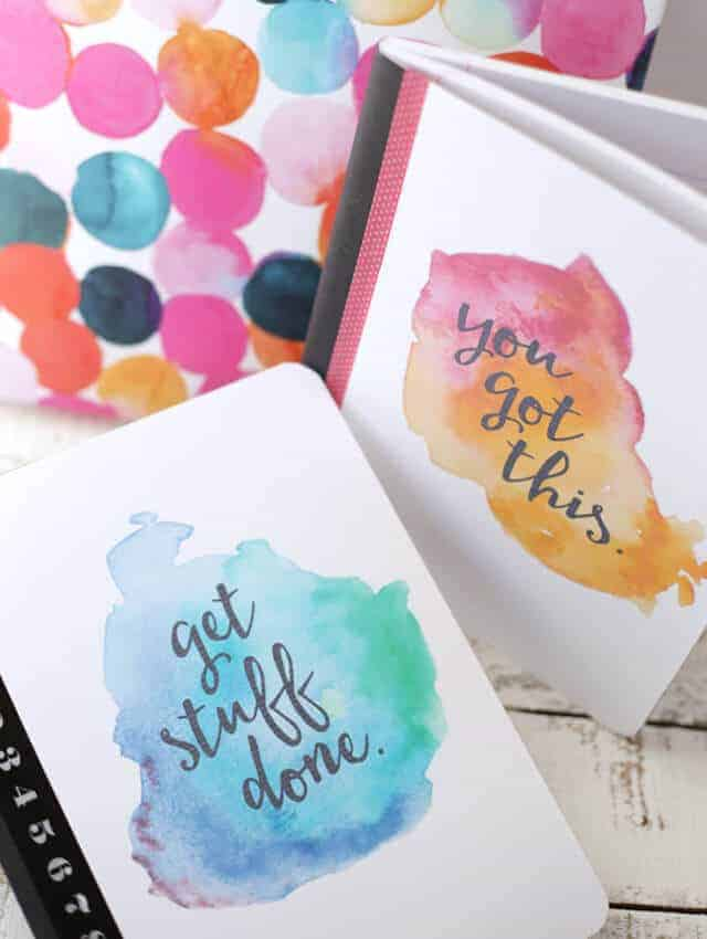 Watercolor Printable Notebook Covers | Eighteen25
